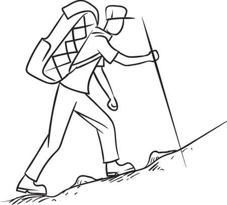 walking pole: hiker