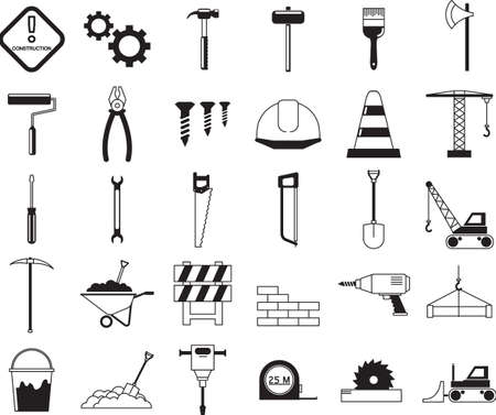 construction: construction icons