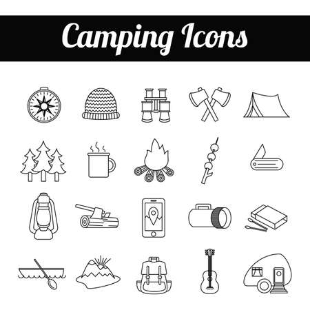 matchbox: camping icons