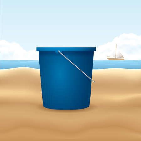 beach bucket: beach bucket Illustration