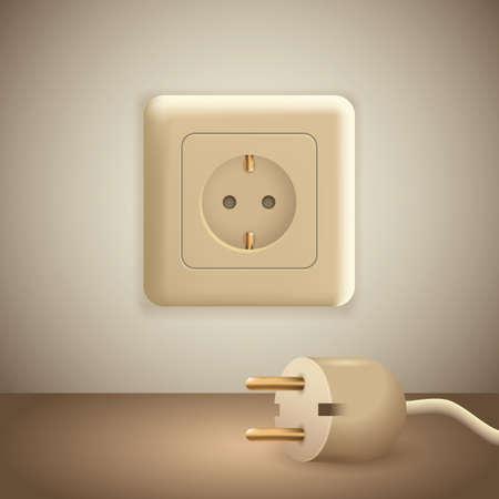 disconnect: plug and socket Illustration