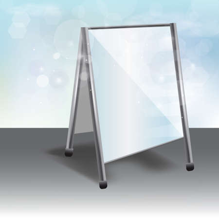 foldable: advertising stand