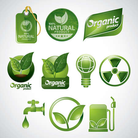 eco icons: collection of eco icons