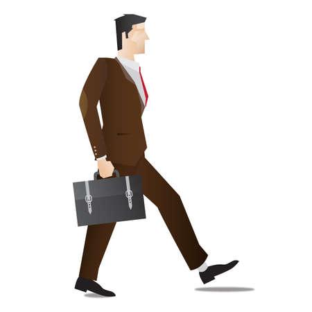 full figure: businessman walking
