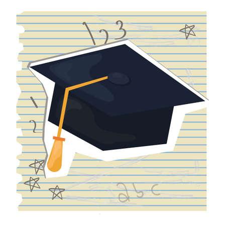 ruled paper: graduation cap