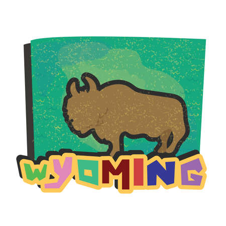 wyoming: wyoming state map