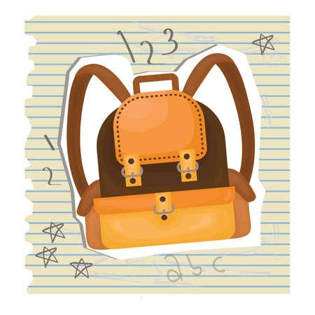 ruled paper: backpack Illustration