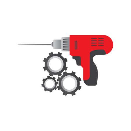 drilling machine: drilling machine and cogwheels