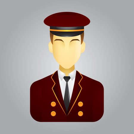 conductor: train conductor Illustration