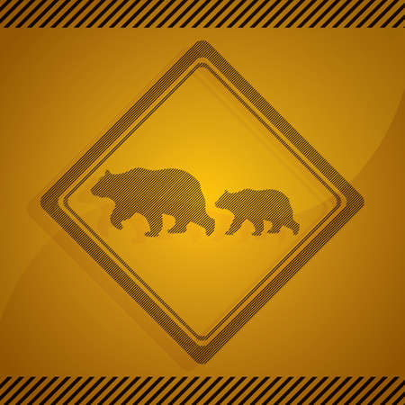 roadsigns: bear crossing sign