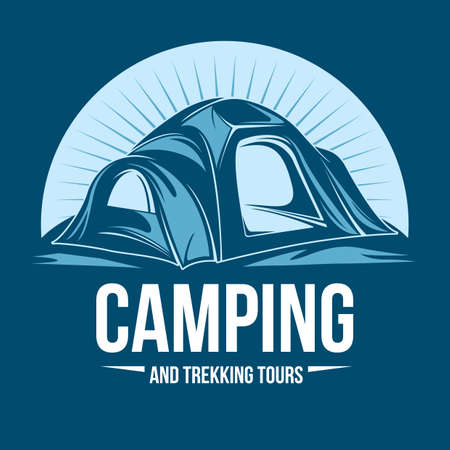 tours: camping and trekking tours Illustration