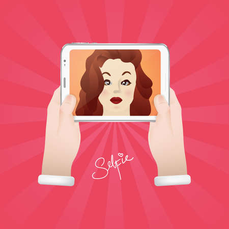 taking: woman taking selfie