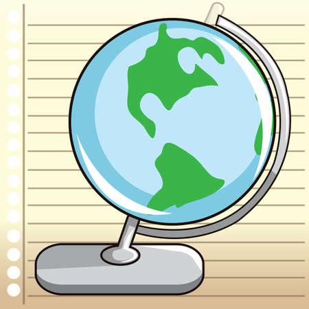 ruled paper: globe