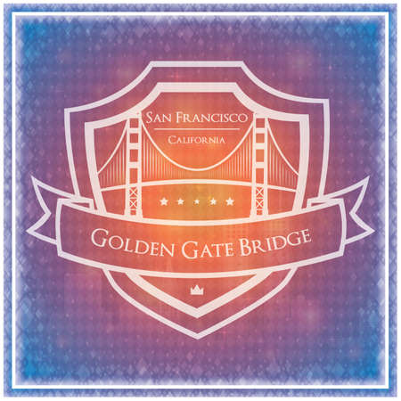 suspension bridge: golden gate bridge background Illustration