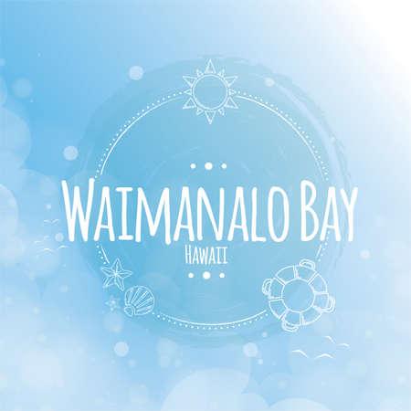 waimanalo bay label Illustration