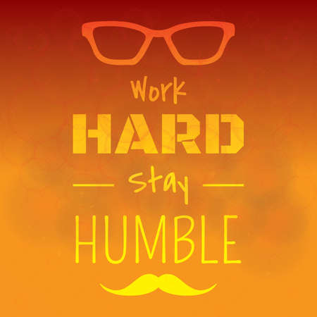 humble: motivational quote Illustration
