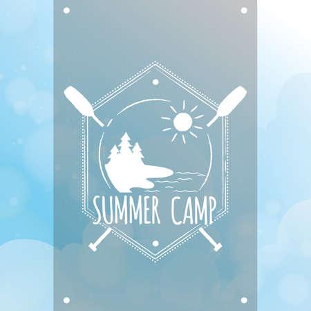 summer camp label