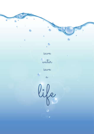 conservation: quote on water conservation Illustration
