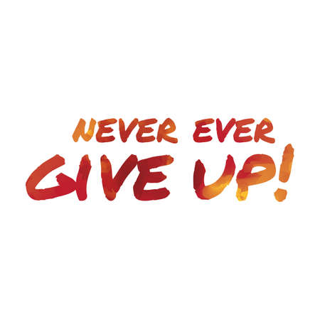 never: never ever give up