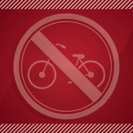 parking sign: no bicycle parking sign