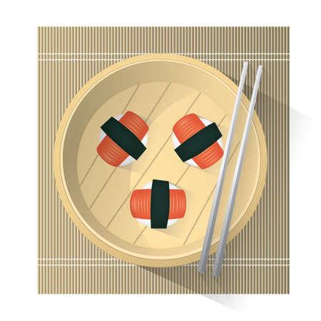 pressed: kani sushi