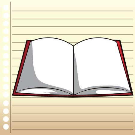 open notebook: open notebook Illustration