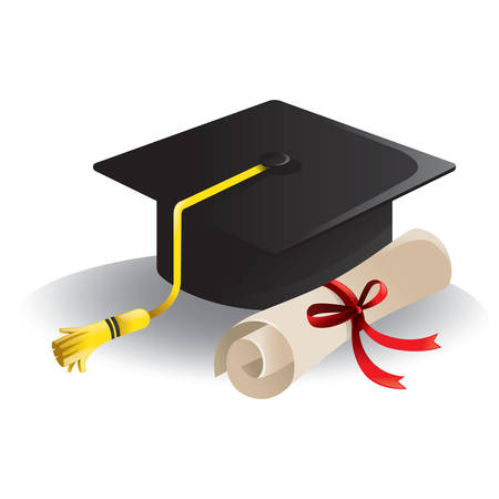 mortarboard: mortarboard and certificate
