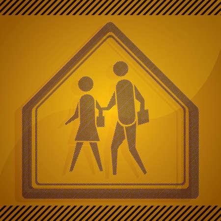roadsigns: school crossing sign