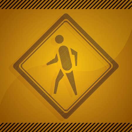 pedestrian: pedestrian crossing sign