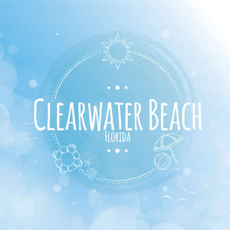 holiday season: clearwater beach label