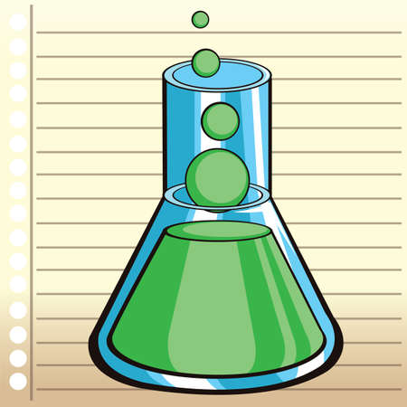 ruled paper: conical flask