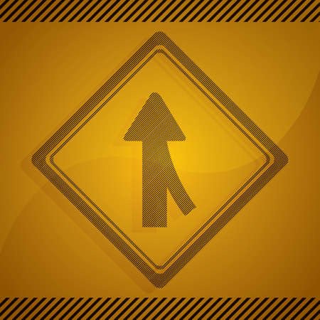 merge: right lane merge sign Illustration