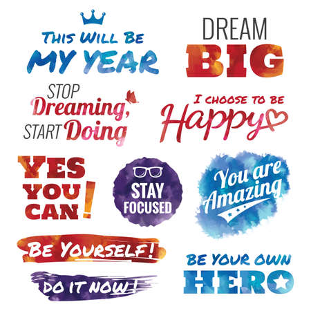 set of motivational quotes Stock Vector - 51372509