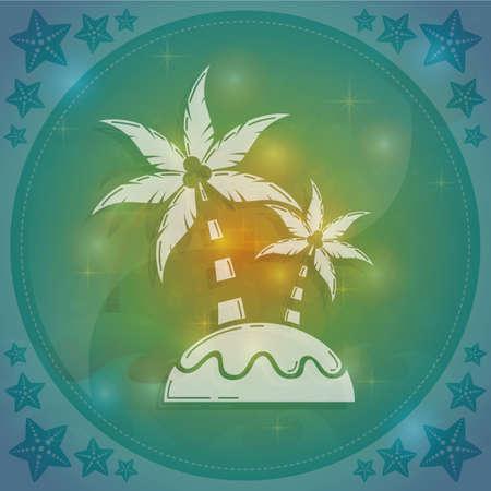 coconut trees: coconut trees Illustration