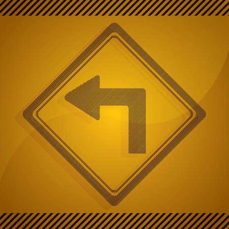 sharp: sharp left turn sign