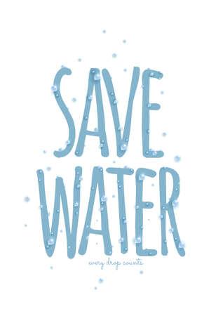 ahorrar agua impresiones