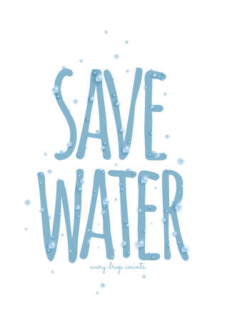 preservation: save water poster