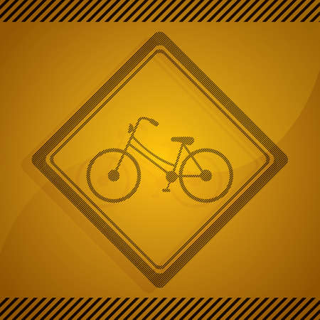 roadsigns: bicycle parking sign Illustration
