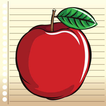 ruled paper: apple