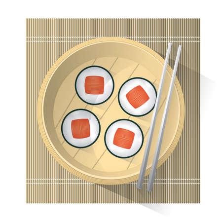 sushi roll: sushi roll