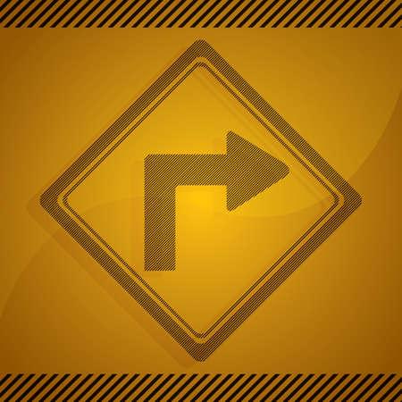 sharp: sharp right turn sign