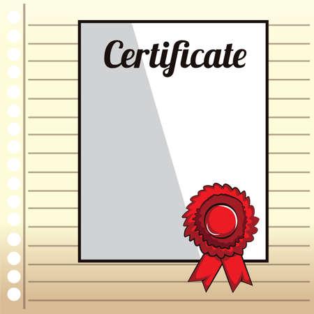 ruled paper: certificate