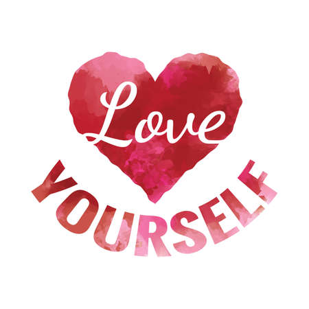 love yourself Ilustracja