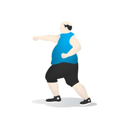 man side view: man throwing punch