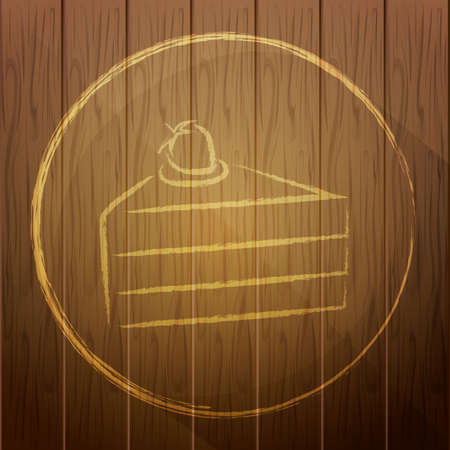 piece of cake: piece of cake on wooden background