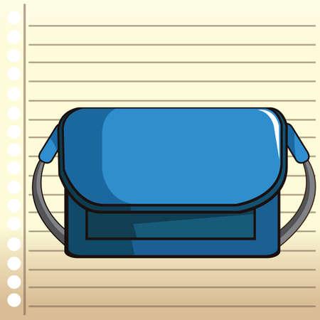 ruled paper: school bag