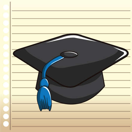 ruled paper: mortarboard