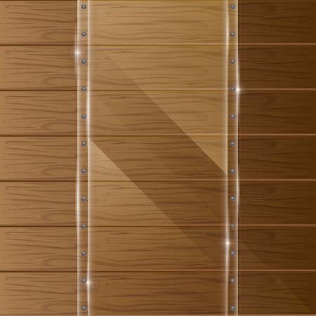 Framework: wooden texture with glass framework Illustration