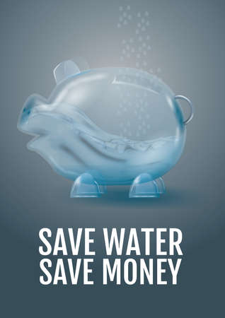 save water save money Illustration