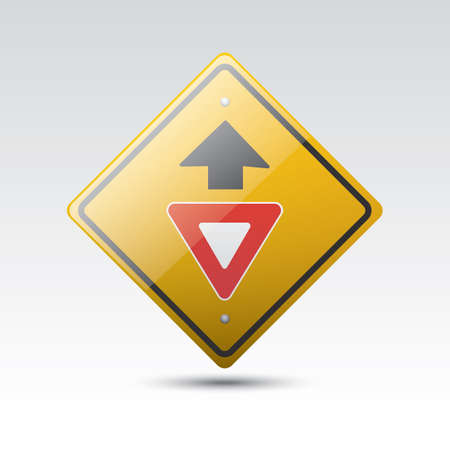yield sign: yield ahead sign
